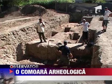 O comoara arheologica a fost descoperita la cetatea medievala din Baia Mare