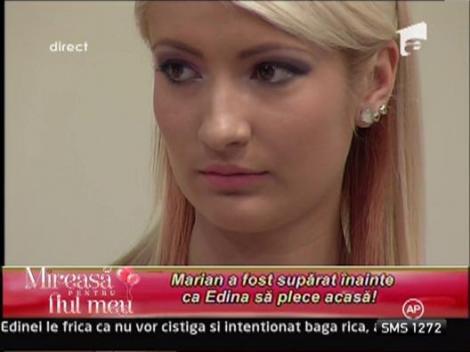Marian a fost suparat inainte ca Edina sa plece acasa!