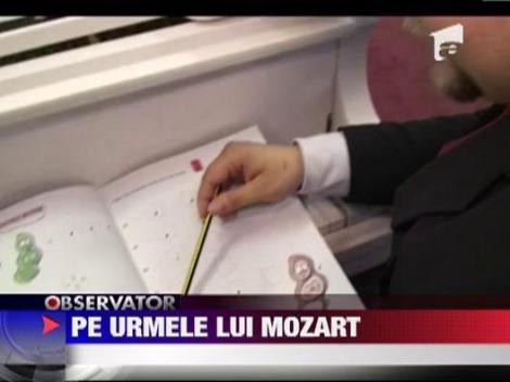 O fetita de doi ani ii calca pe urme marelui Mozart