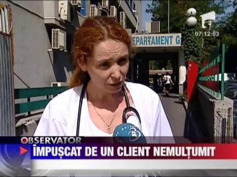 Bucuresti: Un mecanic a fost impuscat de un client nemultumit 
