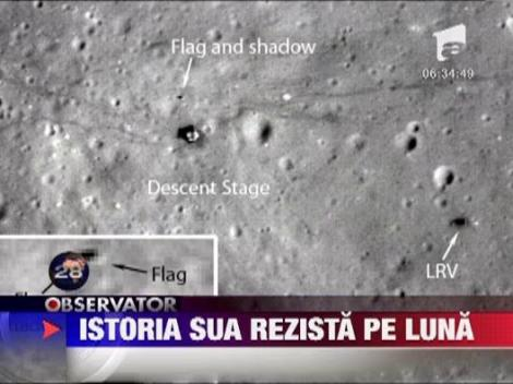 Prezenta SUA pe Luna: 5 din cele 6 steaguri, inca in picioare