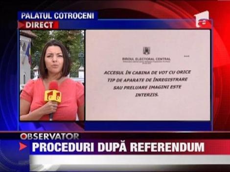 Proceduri dupa referendum