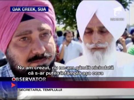 Atac sangeros in SUA. Sase credinciosi ai cultului Sikh au fost ucisi