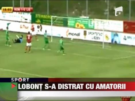 Lobont a fost titular in AS Roma - Liezen 6-0