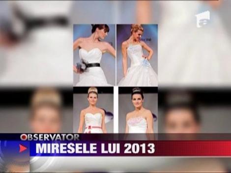 Rochii de mireasa: Vezi ce se va purta in anul 2013!