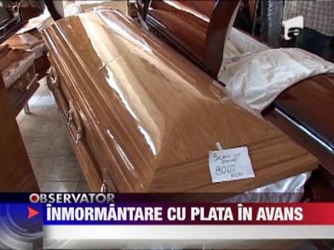 Afacere infloritoare in Pitesti: Inmormantare cu plata in avans