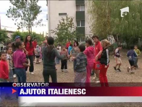 Baia Mare: 50 de voluntari italieni au venit sa ajute comunitatea de rromi