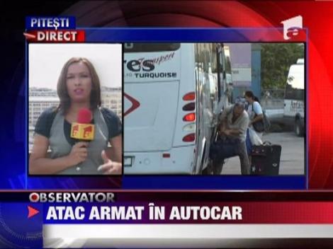 Atac armat intr-un autocar pe ruta Bucuresti - Ramnicu Valcea