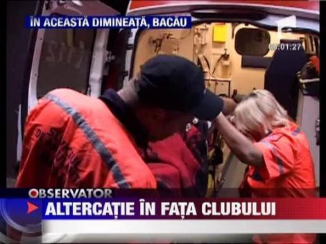 Bacau: Barbat, impuscat in cap de paznicul unei discoteci