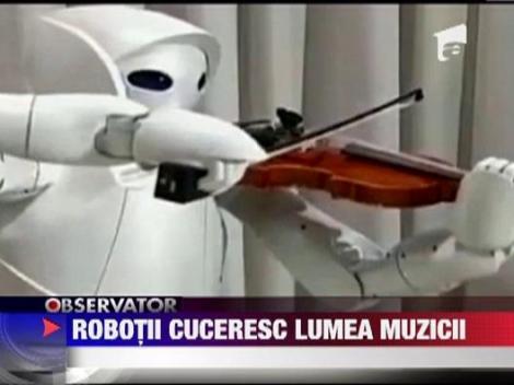 Robotii cuceresc lumea muzicala! Prima orchestra a fost infiintata in Georgia