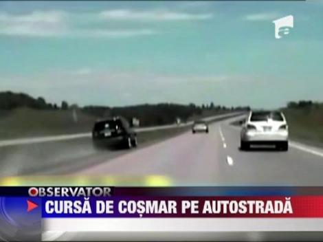 Cursa NEBUNA: Unei femei i s-a blocat pedala de acceleratie la 180 km/h!