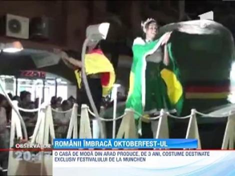 Romanii confectioneaza costumele pentru Oktoberfest-ul din Germania