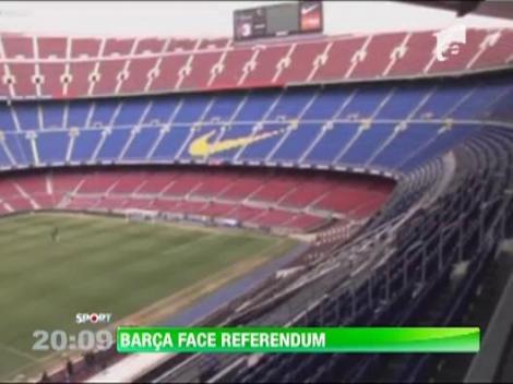 Barcelona face referendum: Camp Nou, renovat sau refacut din temelii?