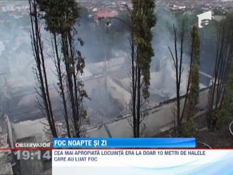 Incendii puternice in Maramures! Doua hale si o fabrica de mezeluri au luat foc