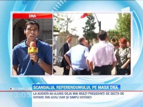 Presedinti de sectii de votare audiati la DNA in dosarul referendumului