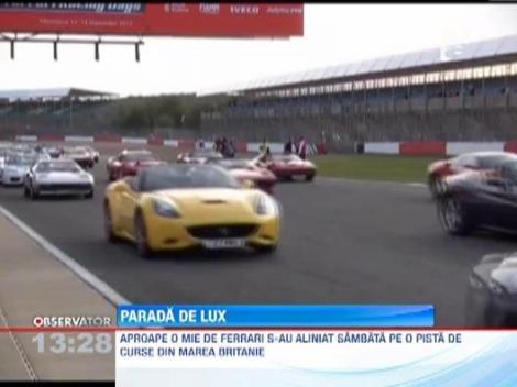 Cea mai mare parada de Ferrari-uri din istorie: 964 de bolizi s-au aliniat la start