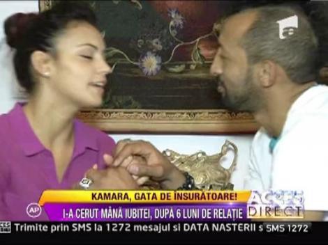 Kamara a cerut-o in casatorie pe iubita lui, Oana