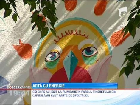 Arta urbana: doua posturi de energie electrica din Bucuresti vor fi decorate cu graffiti