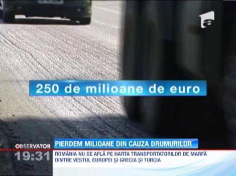 Romania pierde sute de milioane de euro din cauza drumurilor proaste