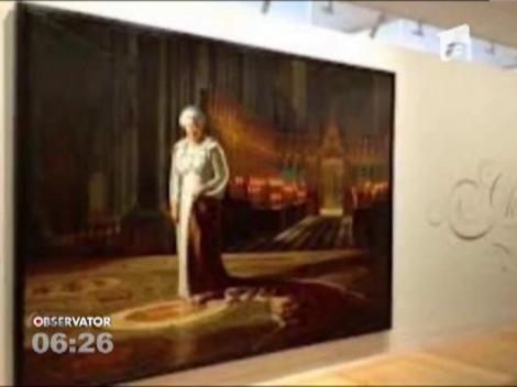 Singurul portret oficial al reginei Elisabeta a II-a