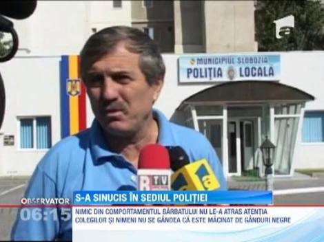 Un politist local din Slobozia s-a sinucis in sediul institutiei