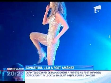 Jennifer Lopez si-a amanat concertul din Romania!