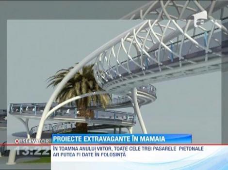 """Mamaia va avea trei """"opere de arta"""": pasarele pietonale"""