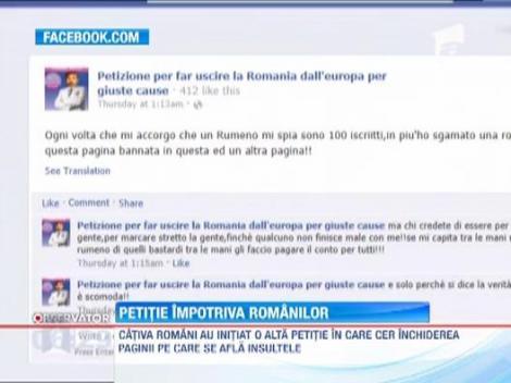 Italia. Xenofobie impotriva romanilor. Un grup de italieni a initiat o petitie pentru excluderea Romaniei din UE