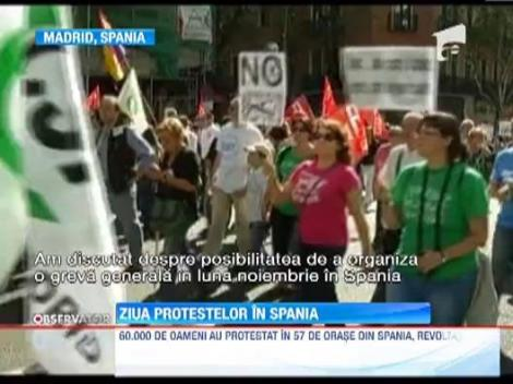 Proteste masive in 60 de orase spaniole! Guvernul de la Madrid, amenintat cu greva generala