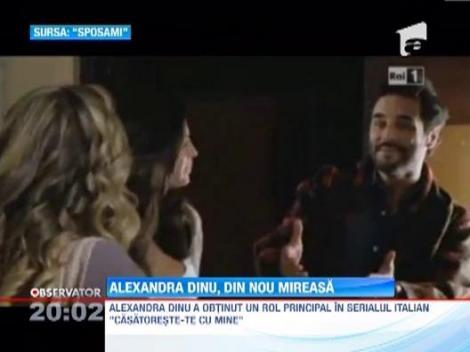 Alexandra Dinu va juca intr-un serial de televiziune difuzat in Italia