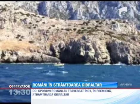 VIDEO. Record impresionant: Doi romani au traversat inot stramtoarea Gibraltar