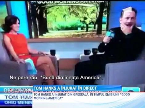 Actorul Tom Hanks a facut o gafa teribila intr-o emisiune de televiziune