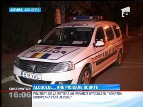 Noaptea europeana fara alcool, marcata de politisti prin razii