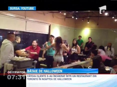 Doua femei au provocat o bataie cu farfurii intr-un restaurant din Toronto