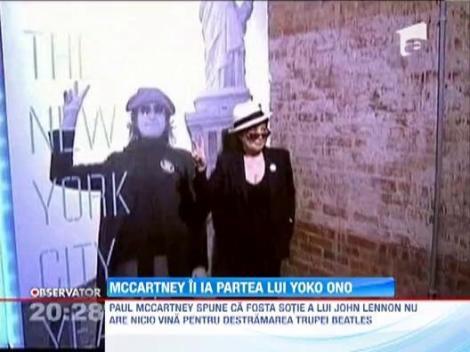 Destramarea Beatles nu a avut nicio legatura cu Yoko Ono, sotia regretatului John Lennon