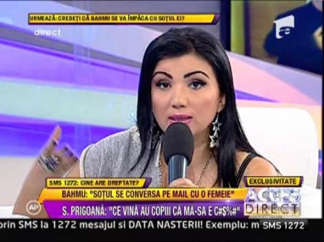 "Adriana Bahmuteanu: ""Prigoana se conversa pe mail cu o femeie"""
