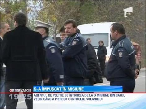 Un politist din Mures s-a impuscat in cap in timpul serviciului
