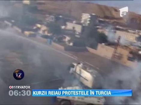 Proteste violente in Turcia. Mii de kurzi s-au luptat cu fortele de ordine