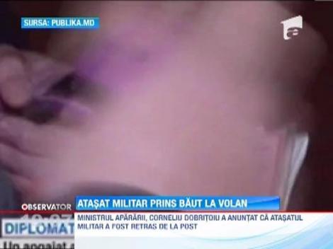 Atasatul militar al Ambasadei Romaniei a fost prins de politistii din Republica Moldova baut la volan. A fost retras de la post
