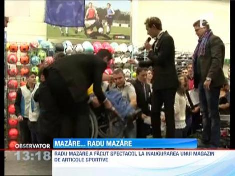 Radu Mazare, aparitie de James Bond la deschiderea unui magazin