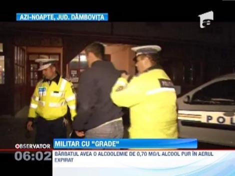 Militar prins la volan fara permis si sub influenta bauturilor alcoolice