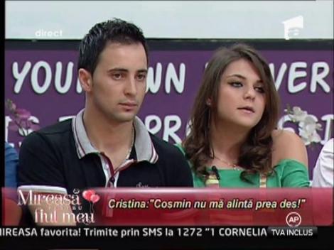 Cristina a dorit sa afle din ce motive a fost suparat Cosmin zilele trecute