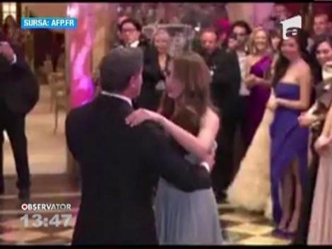 Sylvester Stallone si fiica sa au deschis Balul Debutantelor din Paris