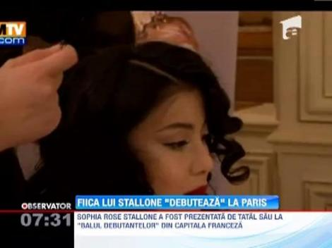 "FOTO! Sylvester Stallone si fiica lui, la ""Balul Debutantelor"" de la Paris"