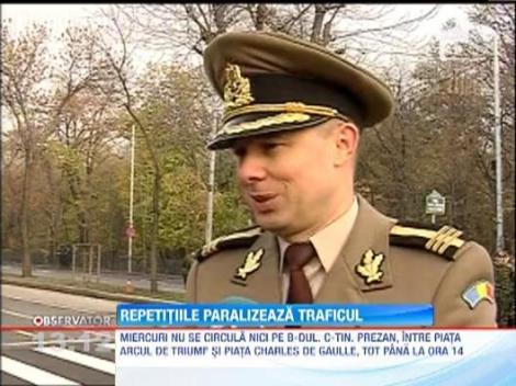 Repetitiile pentru Ziua Nationala au paralizat traficul in Bucuresti