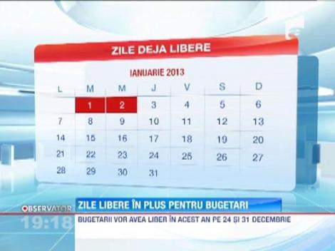 Inca doua zile libere in decembrie! Guvernul a adoptat marti proiectul de hotarare