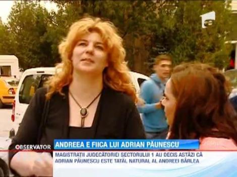 Verdict: Andreea Mihaela Barlea este fiica naturala a lui Adrian Paunescu