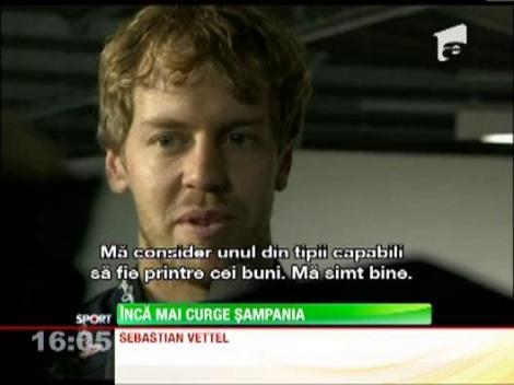 Sebastian Vettel a fost sarbatorit cu fast in Anglia