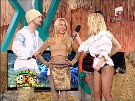 Alessia, cu leoparzi sexy la Neatza!