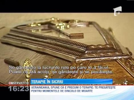 Un ucrainean a inventat sedintele de terapie in sicriu